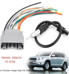 product details of car stereo wiring harness with antenna for chrysler dodge jeep vw 2007 2011 [ 1200 x 1200 Pixel ]