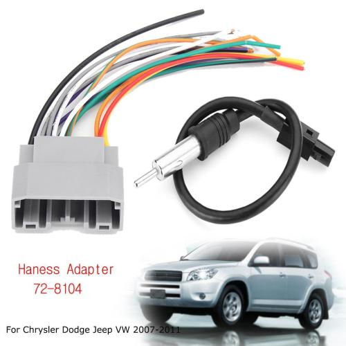 small resolution of product details of car stereo wiring harness with antenna for chrysler dodge jeep vw 2007 2011