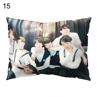 bts band throw pillow cushion cover case car home bedroom sofa cafe decoration