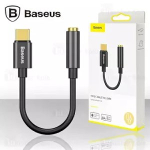 BASEUS L54 Type-C Male to 3.5mm Female Adapter with Cable – Black