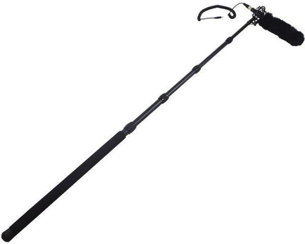 microphone boom stick black