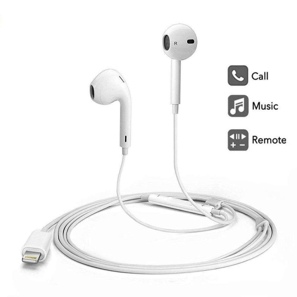 medium resolution of wired headset earphone mic volume headphone for iphone x 8 7 plus