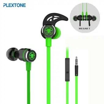 Plextone G20 3.5mm In-Ear Gaming Earphone-Green