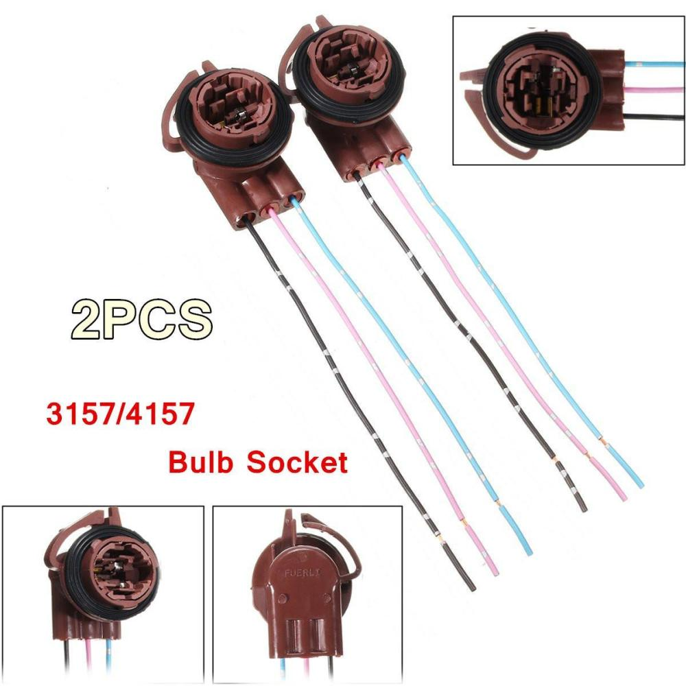 medium resolution of product details of 2pcs 3157 4157 turn light brake bulb socket connector wire harness plug adapter