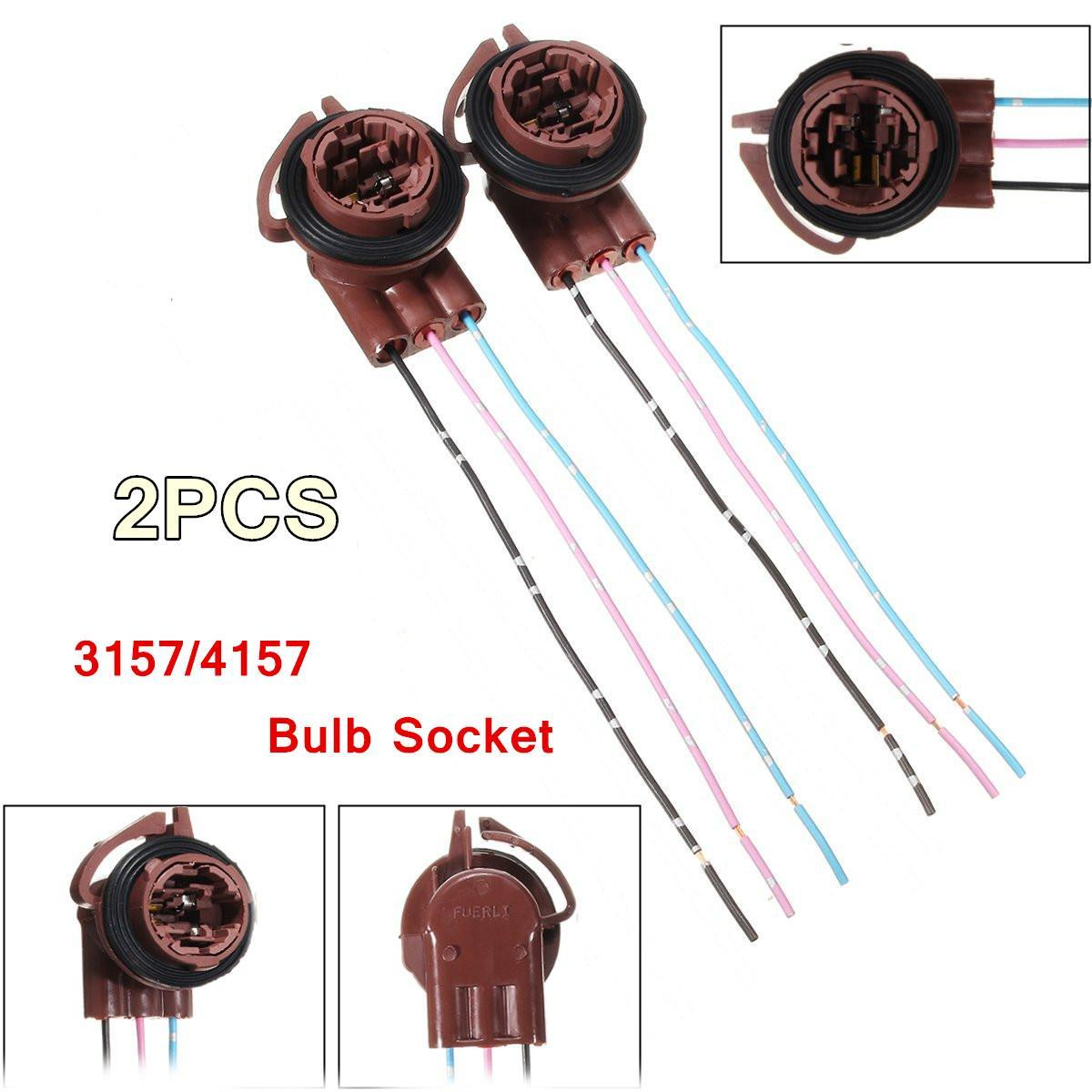 hight resolution of product details of 2pcs 3157 4157 turn light brake bulb socket connector wire harness plug adapter