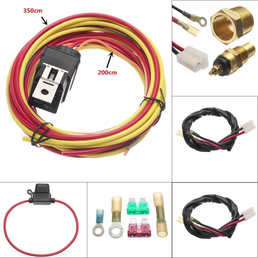 medium resolution of product details of dual electric fan relay wiring harness thermostat sensor kit 40 amp heavy duty