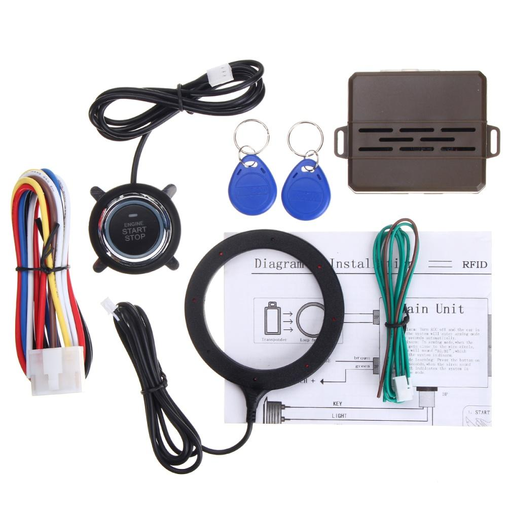 hight resolution of 1 car engine push starter host 1 push start stop button 1 rfid sensor ring 2 rfid line 1 installation wire 1 english user manual