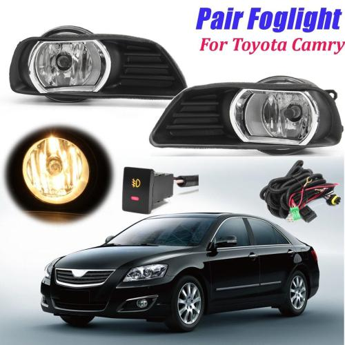 small resolution of product details of for 07 09 camry clear fog light lens front bumper lamp w blubs switch kit