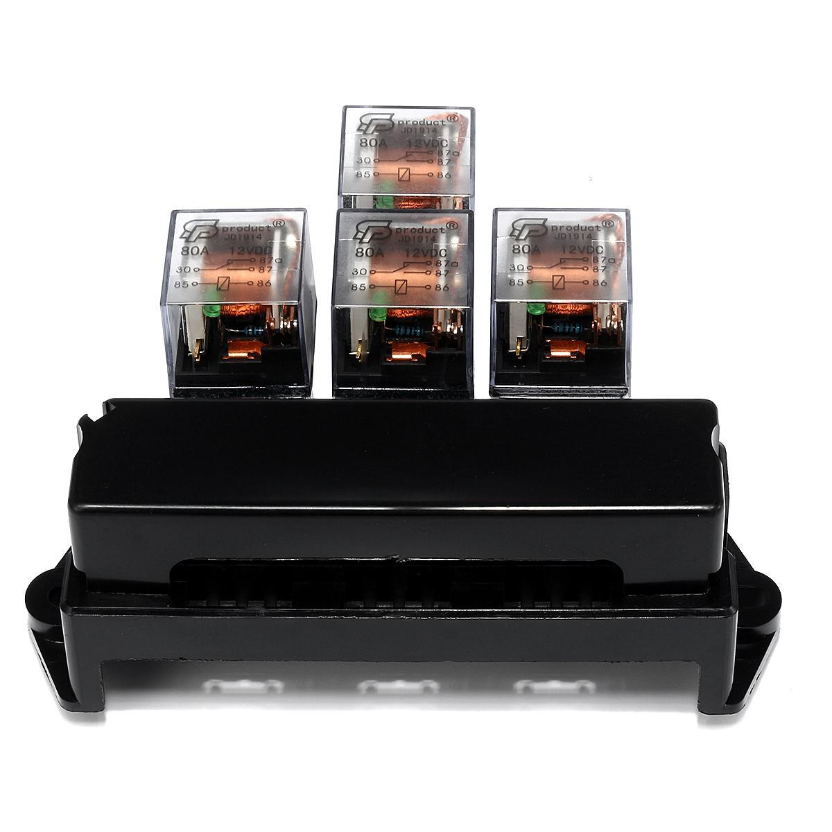 hight resolution of product details of auto boat car 5 pin relay 12v 10 way standard blade fuse box block holder y2w8