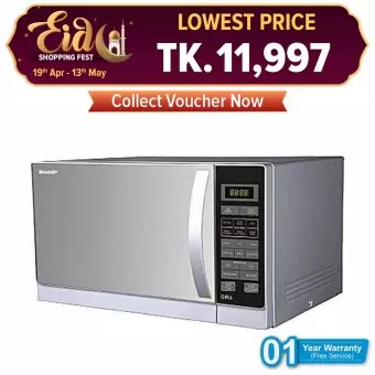 sharp r 72a1 sm v microwave oven 25 liters silver