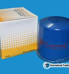 koyoroki genuine oil filter 11100 hyundai tucson kia sportage [ 2000 x 1333 Pixel ]
