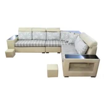 sunrise furniture hs 28 l shape wooden sectional sofa cream