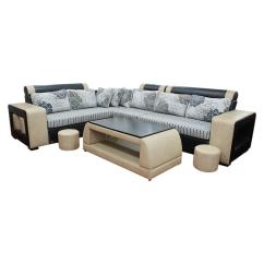 Best Price Living Room Furniture Lazy Boy Rooms Home Buy At Sunrise Hs 011 L Shape Wooden Sectional Sofa With Tea Table Black