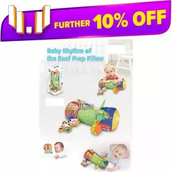 baby rhythm of the reef prop pillow kids tummy time activity with toy month 3