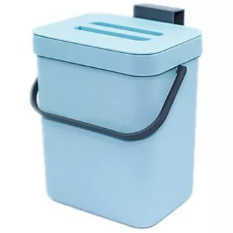 kitchen compost bin for countertop or under sink composting ndoor home trash can ith removable airtight lid blue