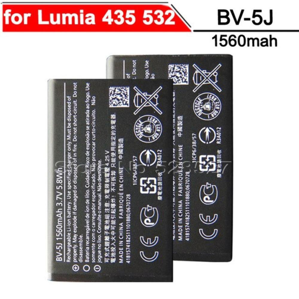 medium resolution of bv 5j battery for nokia lumia 435 532 1560mah black
