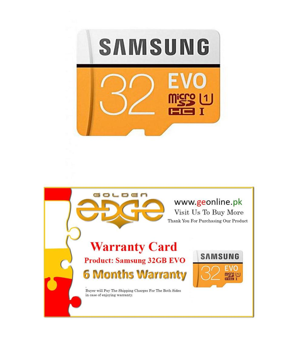 medium resolution of 6 month warranty latest model samsung evo 32gb 100mb full hd 1080p 60p for mobile class