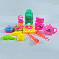 Kids Kitchen Toys Farmhouse Lighting For Online Daraz Pk 17 Pcs Set With Small Chair Toy Girls