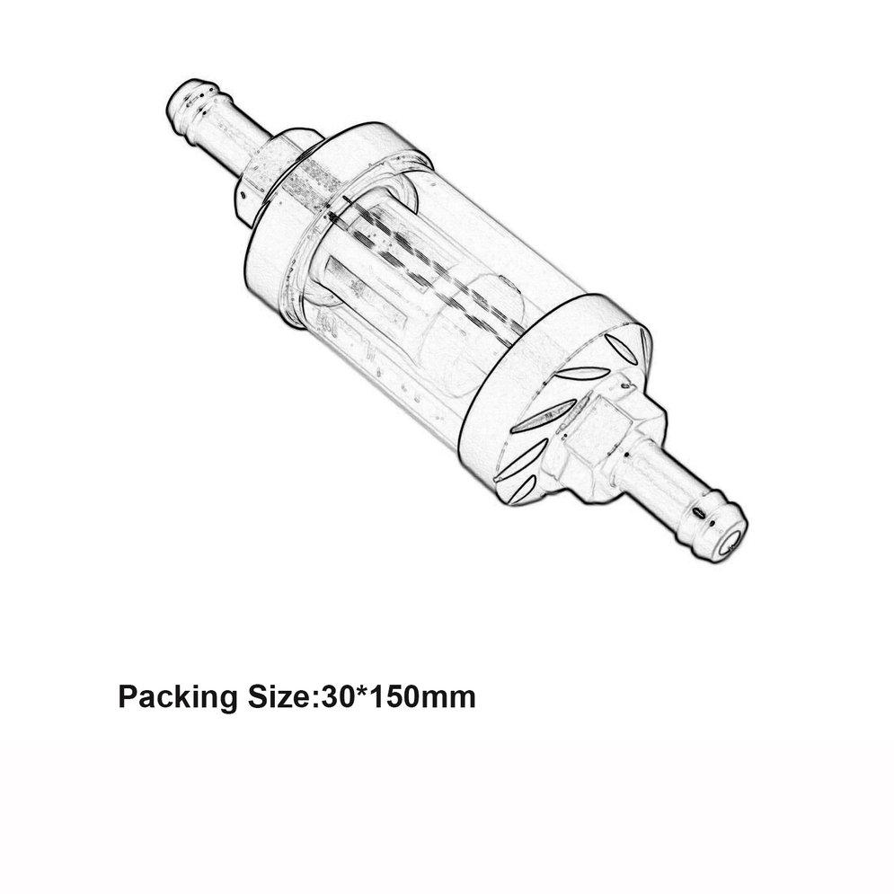Motorcycle Parts BLACK SEE-THRU FUEL GAS FILTER FOR 5/16