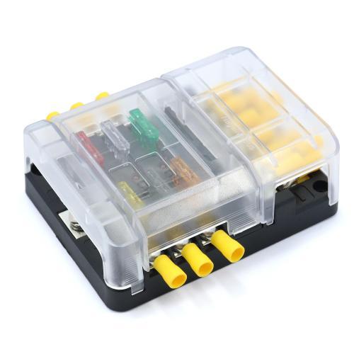 small resolution of speeding 6 way blade fuse box block holder terminals bus bar marine boat car hgv 12v