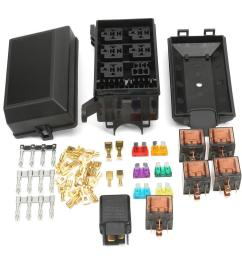 auto fuse box 6 relay holder 5 road insurance holder with 5x 12v 80a 1x12v [ 1200 x 1200 Pixel ]