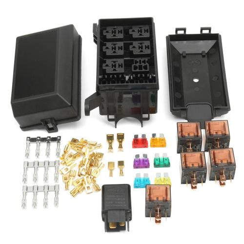 small resolution of  auto fuse box 6 relay holder 5 road insurance holder with 5x 12v 80a 1x12v
