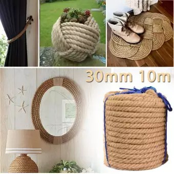 10m Twisted Craft Jute Twine String Rope Thick Natural Hemp Cord Rope 30mm Diy Buy Online At Best Prices In Pakistan Daraz Pk