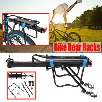 outdoor accessories alloy back rear rack seat post mount mountain bike bicycle luggage carrier 75kg