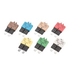 7 pieces auto marine resettable blade fuse manual circuit breaker 28v 5a 30a fuses fuse boxes  [ 1200 x 1200 Pixel ]