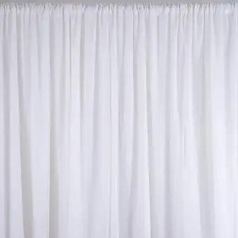 2 4m white wedding party backdrop curtain drapes background decor studio draping