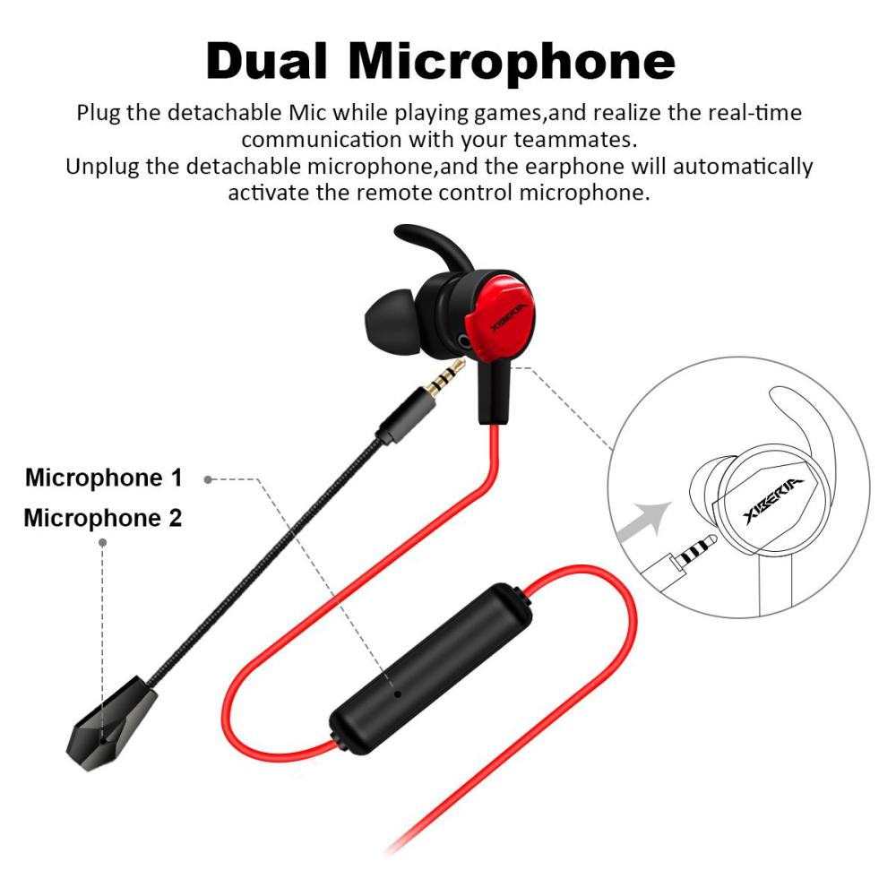 medium resolution of xiberia mg 1 3 5mm wired in ear gaming earphone with dual microphone