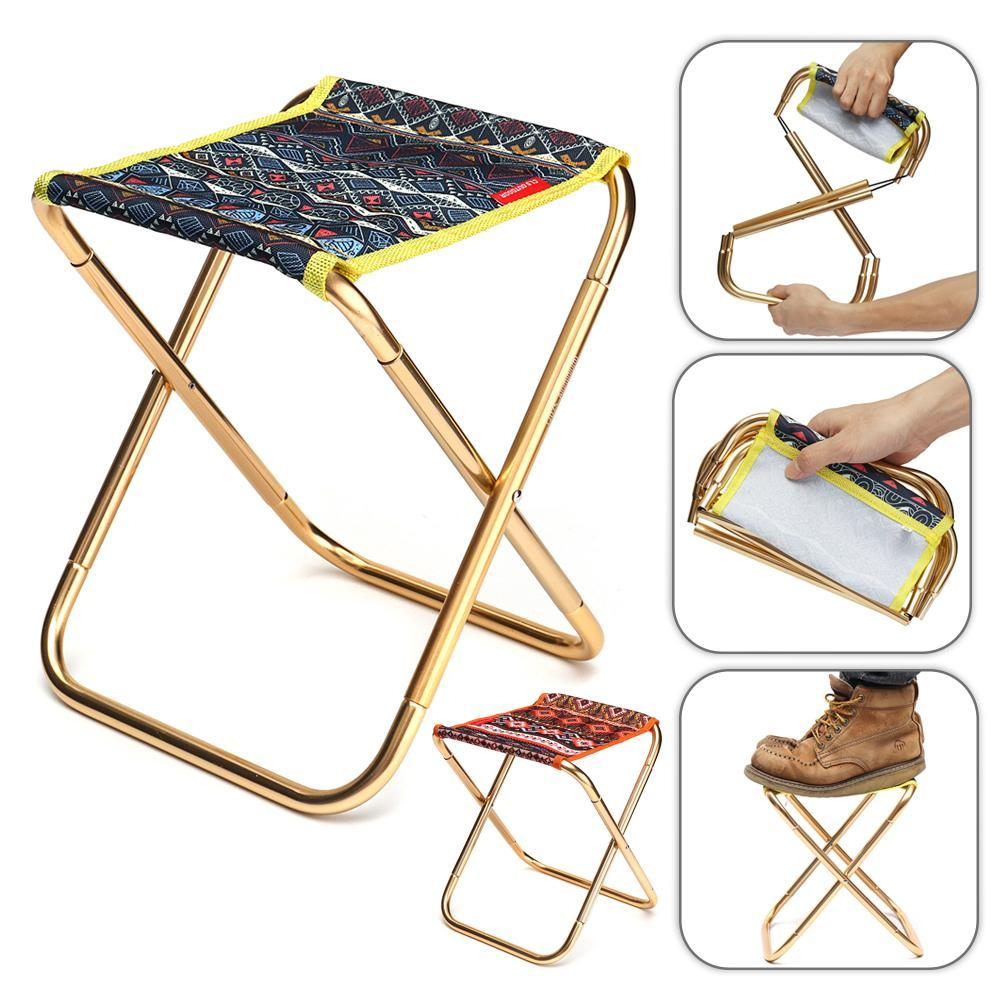Aluminum Folding Chair Portable Aluminum Folding Chair Stool Seat With Storage Bag Outdoor Picnic Beach