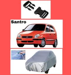 product details of santro car top cover with buckle locks 4 heavy wind hyundai santro parachute quality [ 883 x 895 Pixel ]