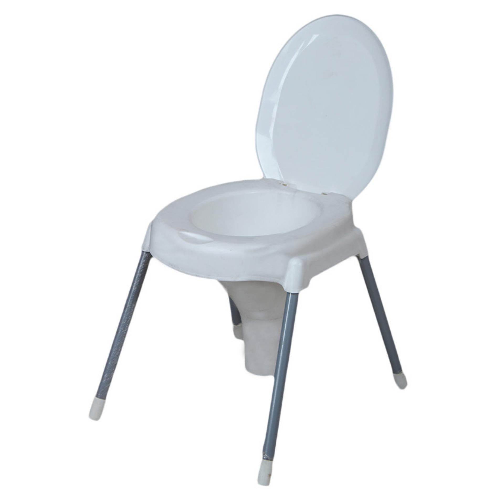 Bedside Commode Chair Heavy Duty Bedside Commode Seat With Cover 4 Extremely Strong Steel Legs