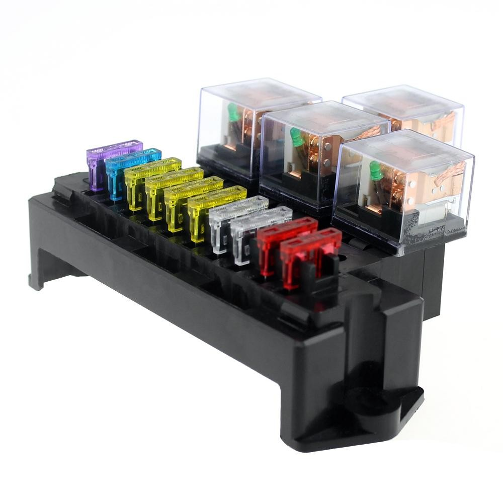 medium resolution of product details of 10 way fuse box 5 pin socket base relay fuse holder block with 13pcs standard blade fuses universal for auto interior parts