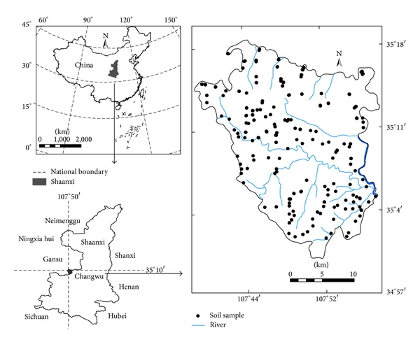 County-Scale Spatial Distribution of Soil Enzyme