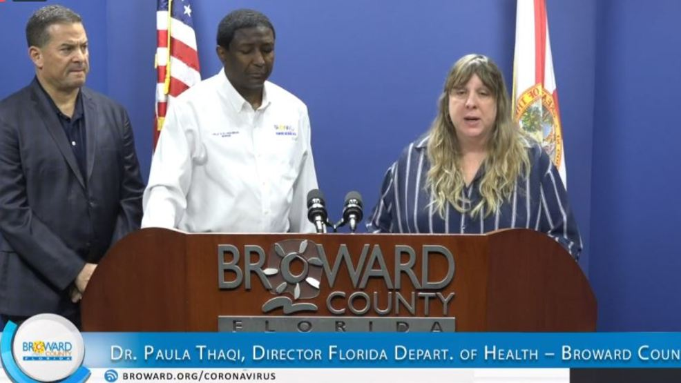 Broward County officials hold news conference on coronavirus ...
