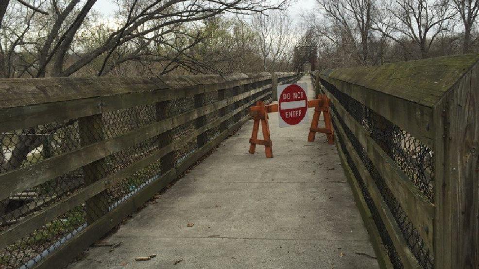 River Walk Trail bridge shut down due to fire WSET