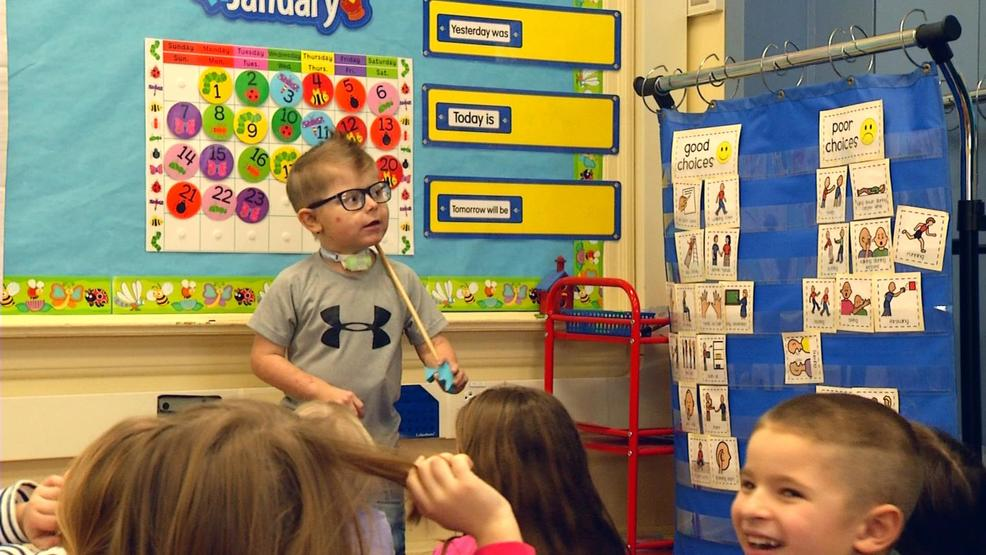 Easton Friedel tackles kindergarten with a rare disease