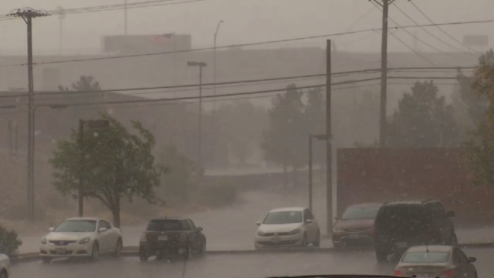 West El Paso flooded hit hard by hailstorms  KFOX