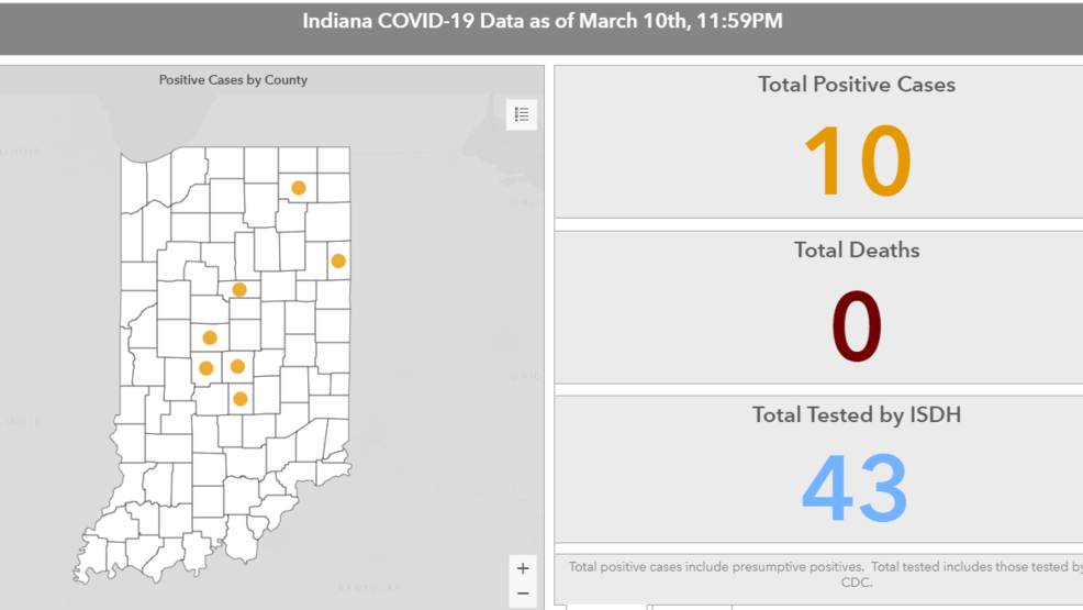 New map shows positive cases of coronavirus in Indiana by county ...