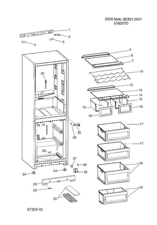 Hotpoint FFP187MP Refrigerator Transparent Drawer Front