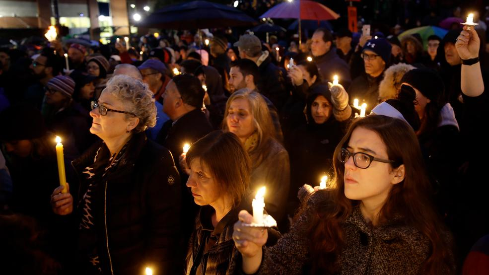 Image result for pittsburgh shooting vigil