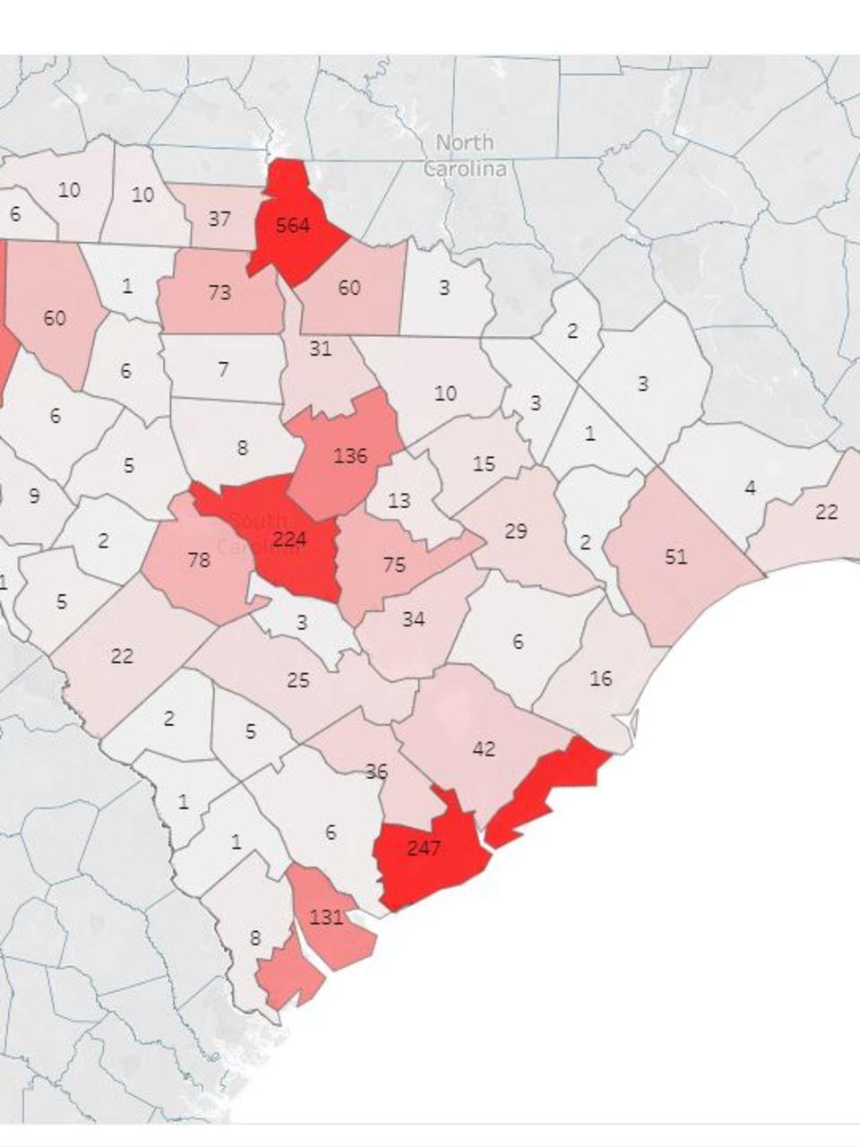 Charleston Zip Code Map : charleston, Releases, Coronavirus, Cases