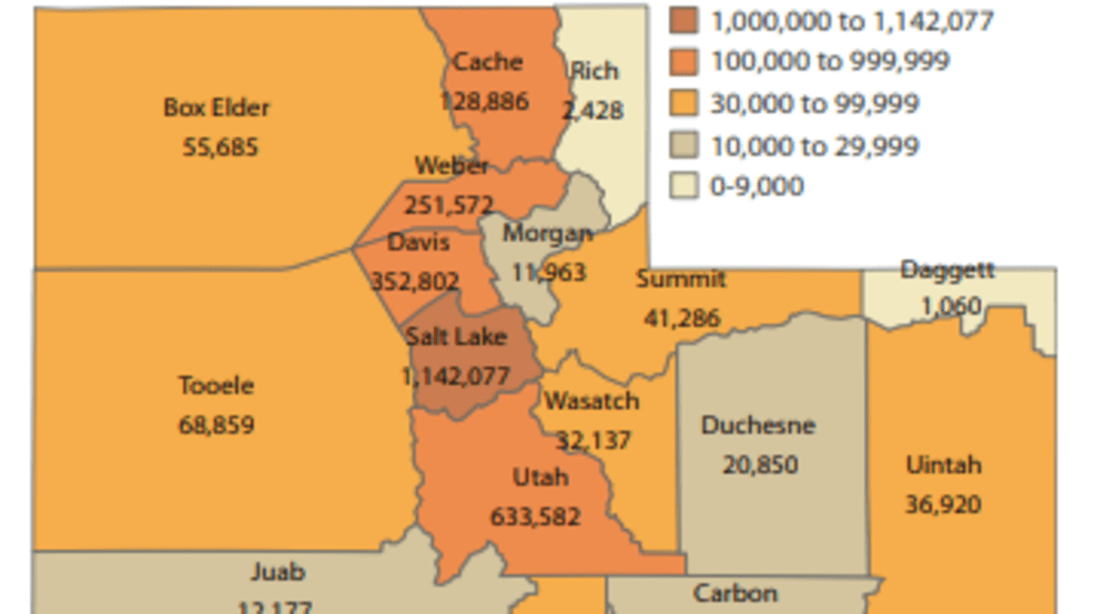 New Utah Population Estimates See 14 6 Growth Since 2010 Kutv