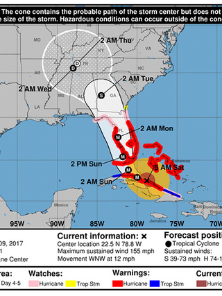 Hurricane Irma Path Map : hurricane, Weather, Authority:, Saturday, Morning, Notes