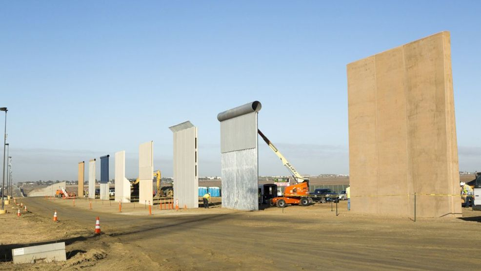 Federal government rolls out eight border wall prototypes