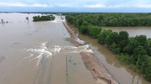Levee breach confirmed on Black River Flash Flood