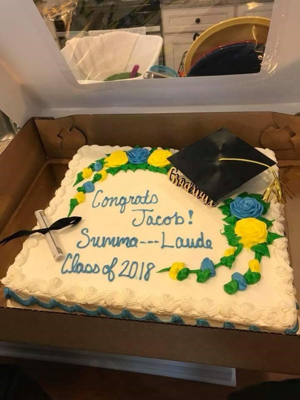 Publix Cakes Pictures : publix, cakes, pictures, Publix, Wouldn't, Write, Summa, Laude, Graduation, Profanity,, Family