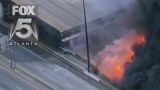VIDEO: Bridge collapses on I-85 in Atlanta due to massive fire